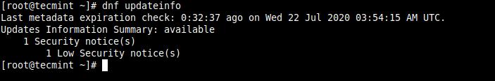 セキュリティ更新の通知を確認する