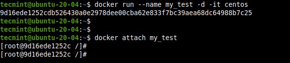 分離モードでDockerコンテナーを開始する