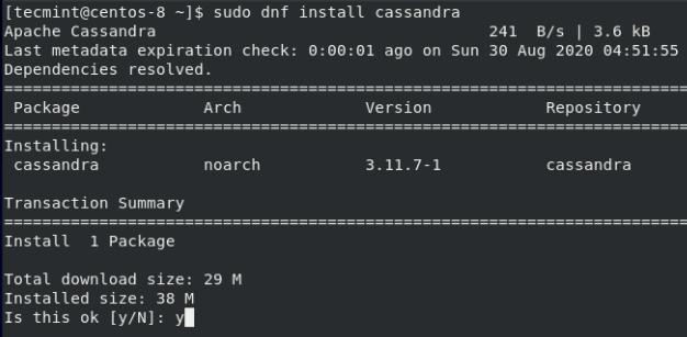 CentOSにApache Cassandraをインストールする