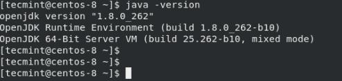 Javaのバージョンの確認