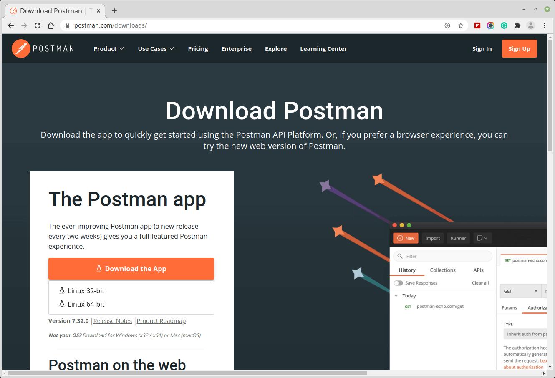 Postman Desktop Appをダウンロード