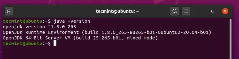 UbuntuでJavaのバージョンを確認する