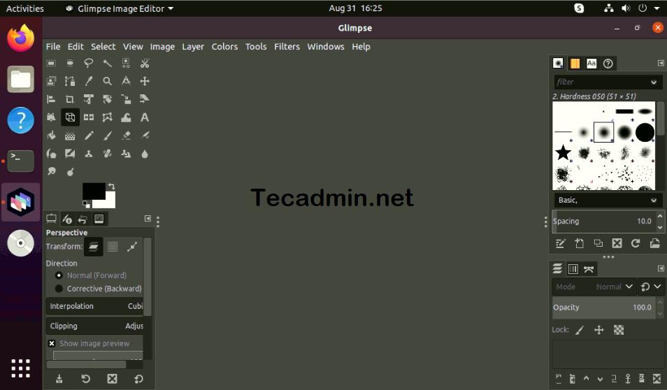 Ubuntu 20.04でのGlimpseの実行