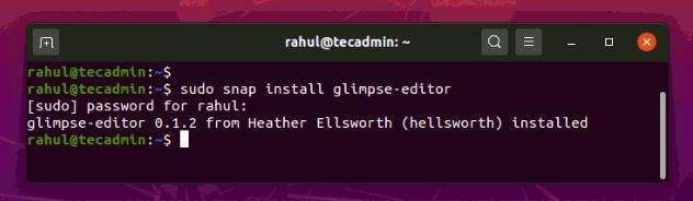 Ubuntu 20.04にGlimpseをインストールする