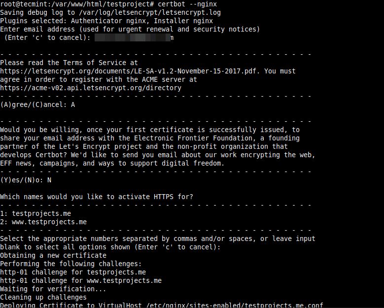 Yii NginxアプリケーションでHTTPSを有効にする