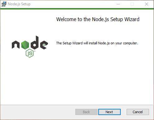 Windowsにノードをインストール