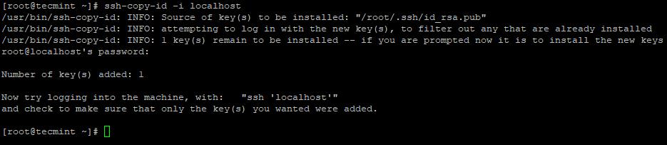 SSHキーをCentOS7にコピーします