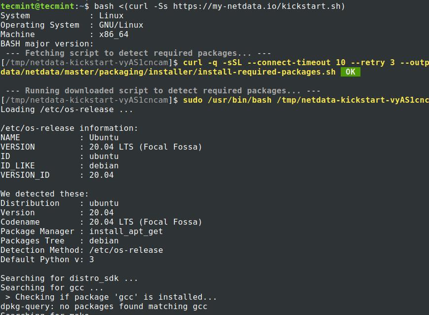 UbuntuにNetdataをインストールする