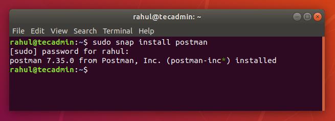 postman Ubuntu18.04のインストール