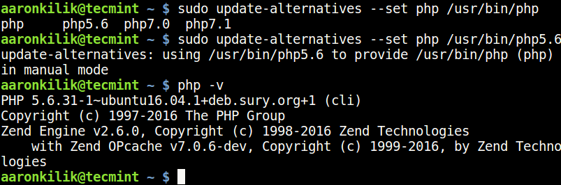 UbuntuでPHP5.6バージョンを設定する