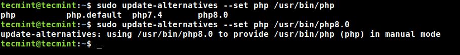PHP8バージョンを設定する