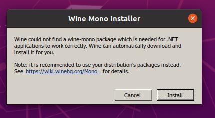 WineMonoインストーラー