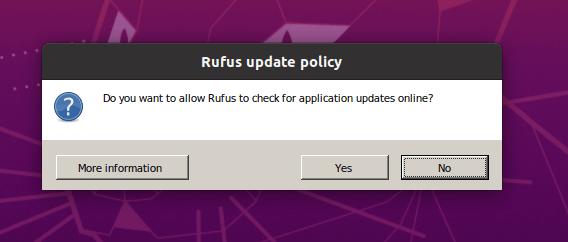 Rufusアップデートポリシー