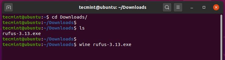 UbuntuでWindowsプログラムを実行する