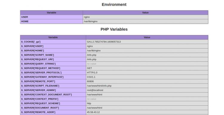 リバースプロキシ経由のPHP情報