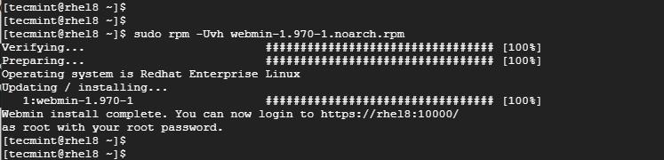 RHEL8にWebminをインストールします
