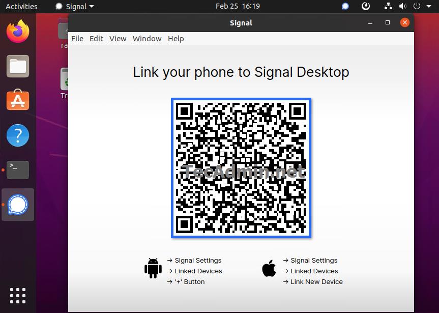 Ubuntu20.04へのSignalデスクトップのインストール