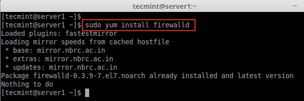 CentOS7にFirewalldをインストールする