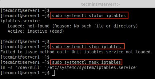 CentOS7でIptablesを無効にする