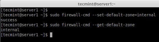 Firewalldのデフォルトゾーンを設定する
