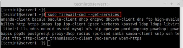 Firewalldサービスを確認する