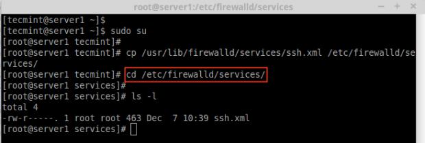 Firewalldサービスの作成
