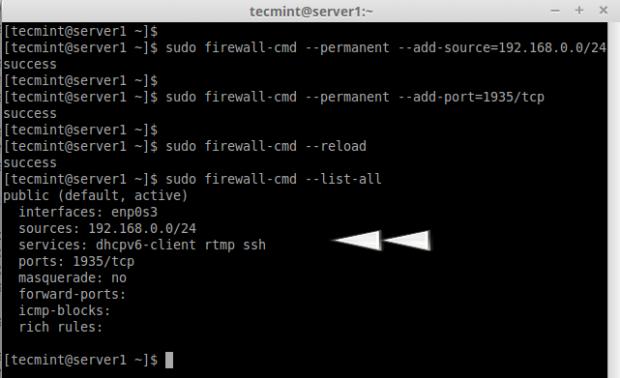 CentOS7でポートを開く