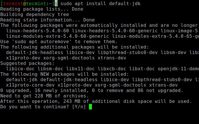 UbuntuにOpenJDKをインストールする