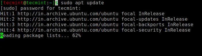 Ubuntuを更新する